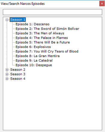 TV Episodes Renamer - Episodes List